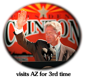 {Clinton visits AZ for 3rd time}