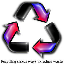 {Recycling shows ways to reduce waste}