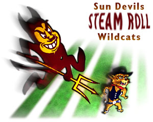 {Sun Devils steam roll Wildcats}